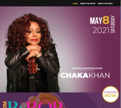 diseño de landing page para chaka khan